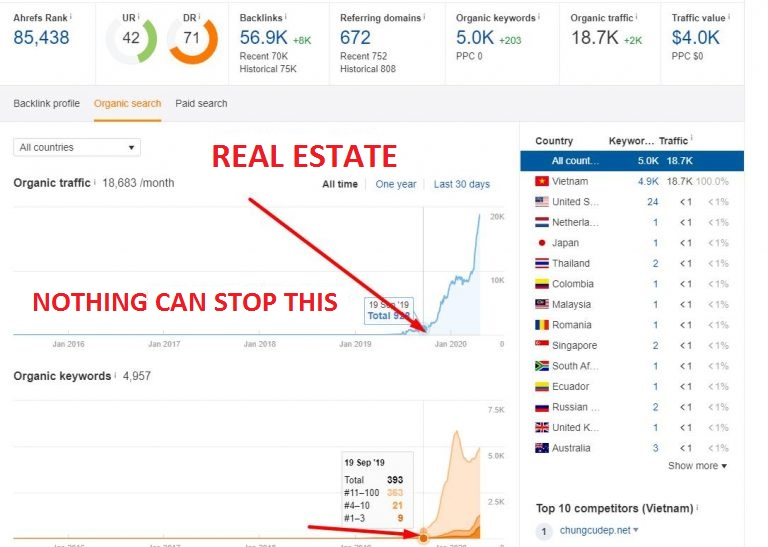 Silverbacklink Case 3 Real estate niche